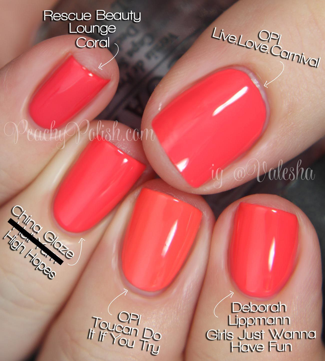 Opi Brazil Collection Comparisons With Images Nail Polish Opi Nail Polish Colors Opi Gel Nails