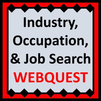 Fun webquest for career exploration and work readiness students. Activity involves internet research of industries, occupations, and job postings, distinguishing between each. Requires internet access. Includes 3 webquest pages and 1 page of personal reflection questions.