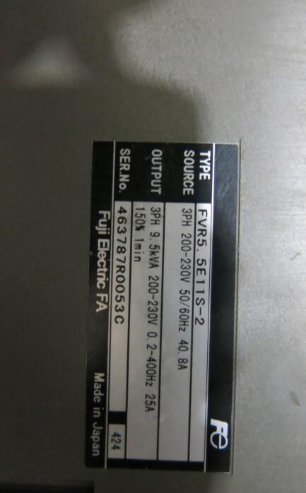 Inverter FVR55E11S-2 3PH 220V 55KW , Used one , 90 appearance new
