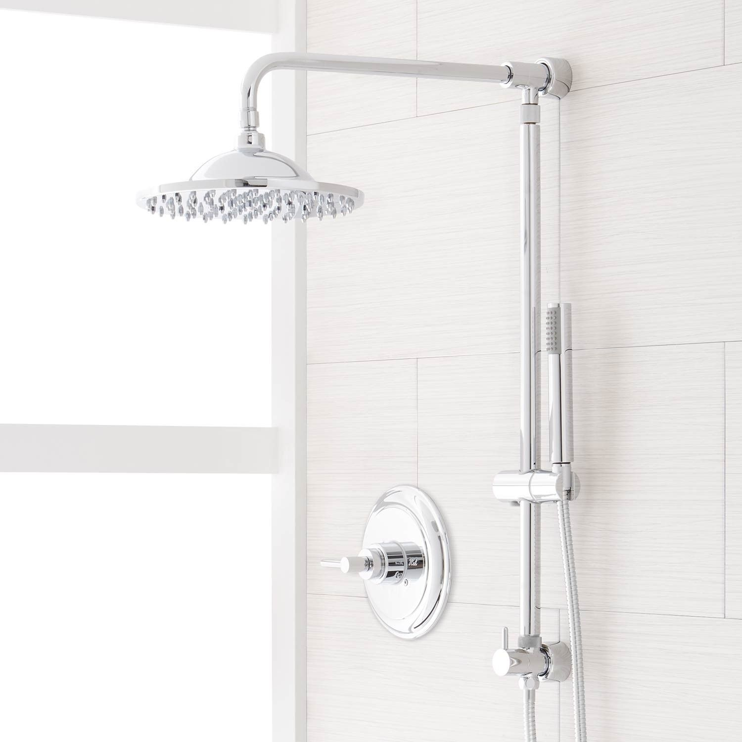 Bostonian Rainfall Nozzle Shower System Hand Shower Mixing