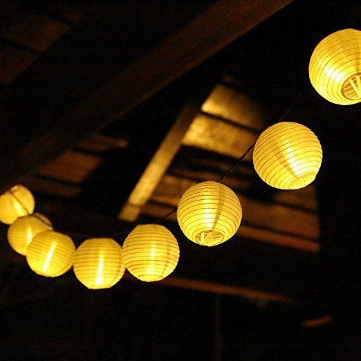 solar outdoor lichterkette 6 meter 30 leds lampions laterne solarbetrieben lichterkette. Black Bedroom Furniture Sets. Home Design Ideas