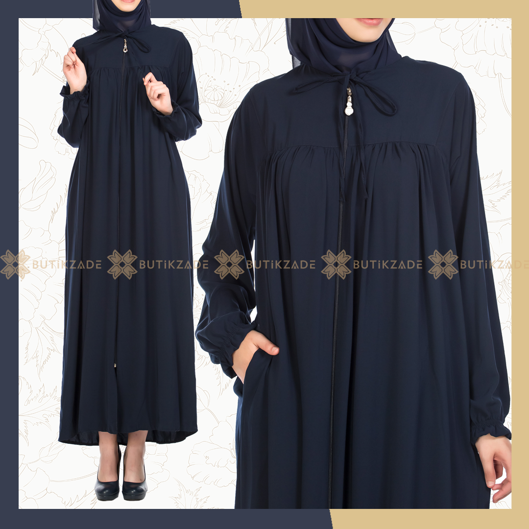 Robadan Ferace Lacivert Elbise Modelleri Elbise