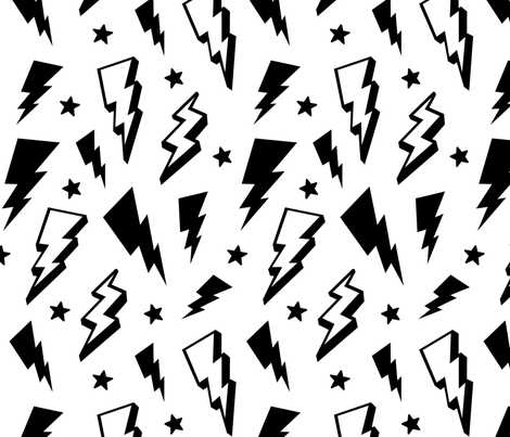 Super Fun Lightning Bolts Stars Print Perfect For Kids Clothing And Especially Cute On Legg Artsy Background Iphone Background Wallpaper Collage Background