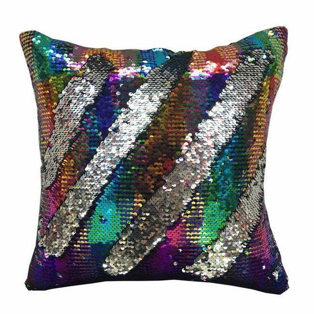 Reversible Sequin Mermaid Pillow Mermaid Pillow Sequin Mermaid Throw Pillows Sequin Pillow