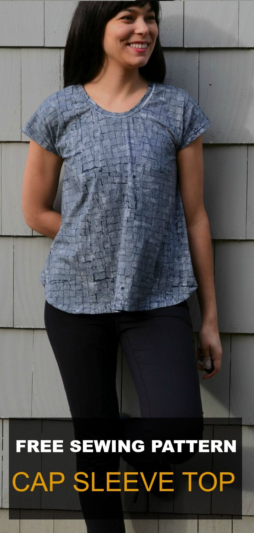 Free Sewing Pattern : CAP SLEEVE TOP | Pinterest | Sewing patterns ...