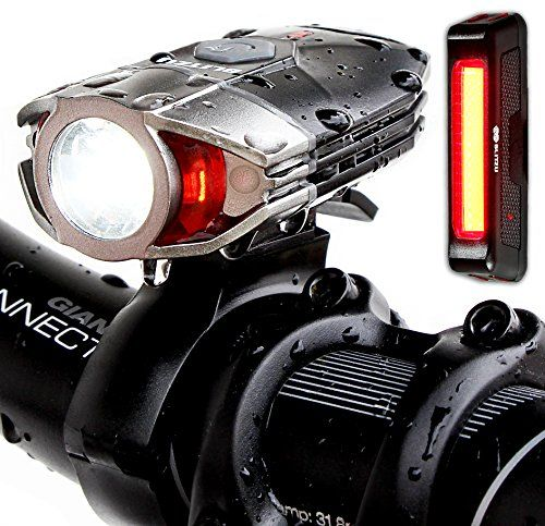 Blitzu Gator 380 Lumens Usb Rechargeable Bike Light Set With Led Tail Light Waterproof Easy Installation Flashlight For Cycling Safety Cycling Light Bicyc