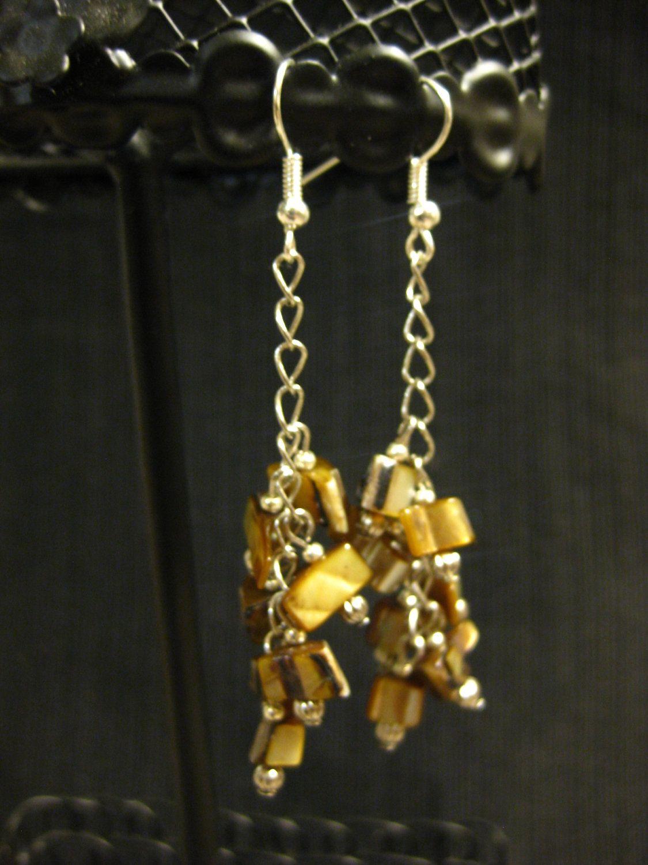 Gold of Mother Sea Earrings. $4.00, via Etsy.