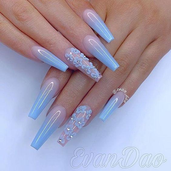 Top 32 Acrylic Nail Designs Of 2020 Page 23 Of 32 Creative Vision Design Blue Acrylic Nails Coffin Nails Designs Acrylic Nails