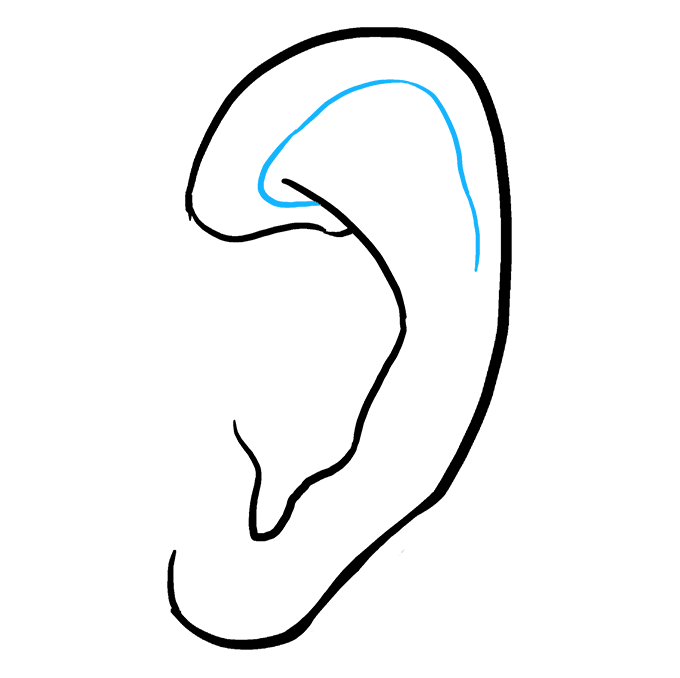 How To Draw An Ear Really Easy Drawing Tutorial Drawing Tutorial Easy Easy Drawings Drawing Tutorial