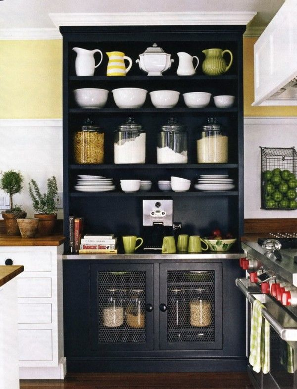 black painted kitchen hutch (Susan Serra, kitchendesigner ...