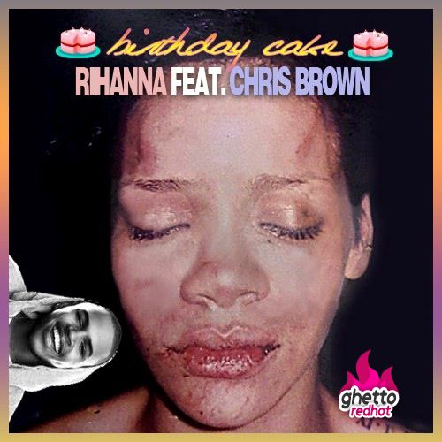Sensational Rihanna Birthday Cake Feat Chris Brown Rihanna Birthday Cake Birthday Cards Printable Opercafe Filternl