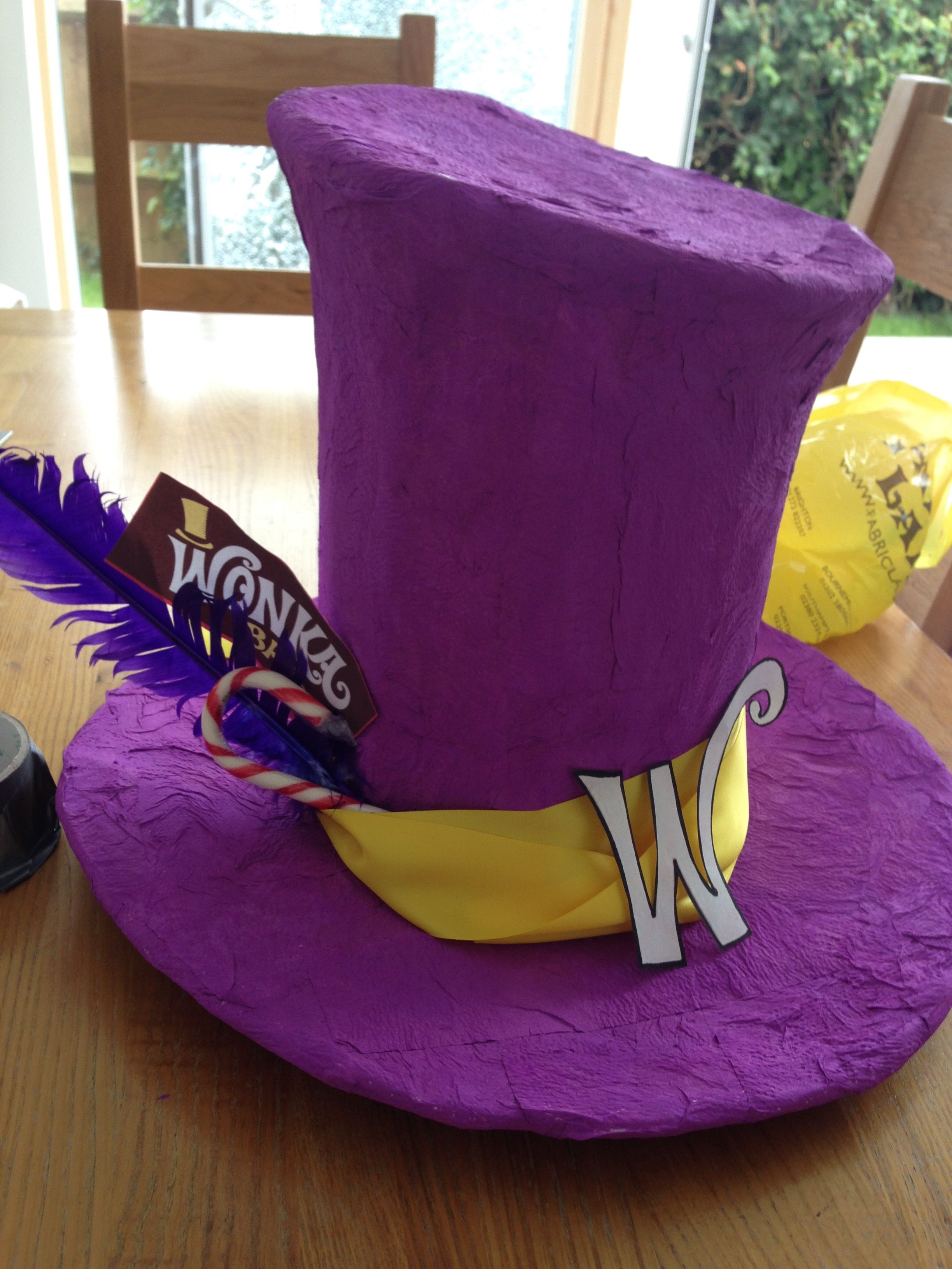 DIY Willy Wonka Hat Charlie and the Chocolate Factory Cardboard ...