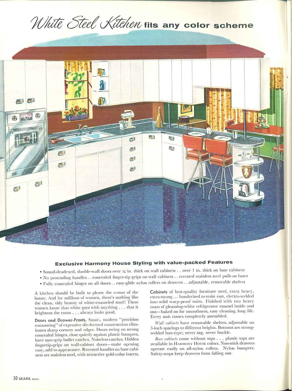 1958 Sears kitchen cabinets and more - 32 page catalog | Retro ...