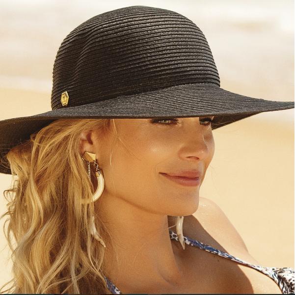2a10f75cdb328 Chapéu feminino de praia floppy verão.