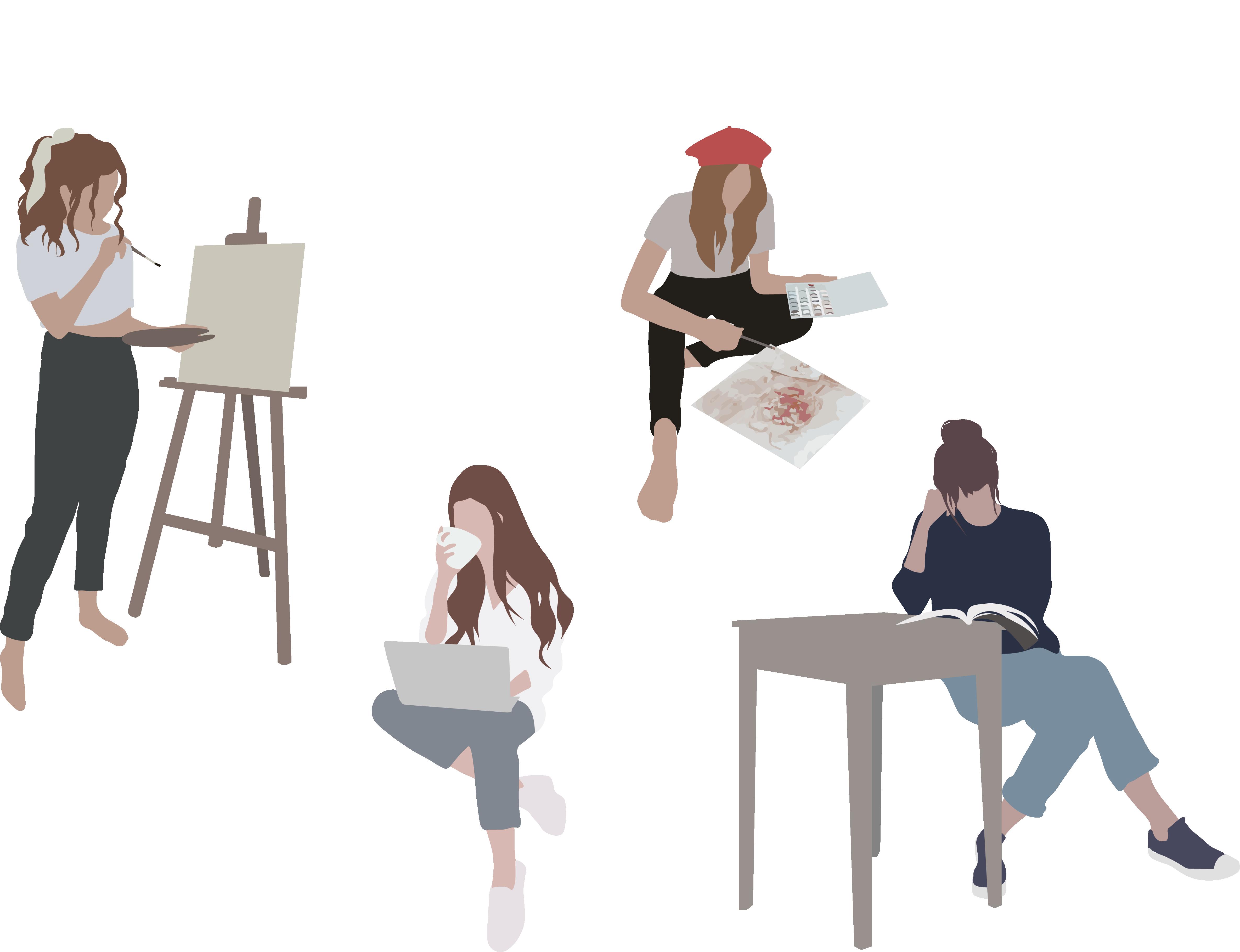 Flat Vector People Illustration Nel 2020 Illustrazioni Di Persone Illustration Figure Umane