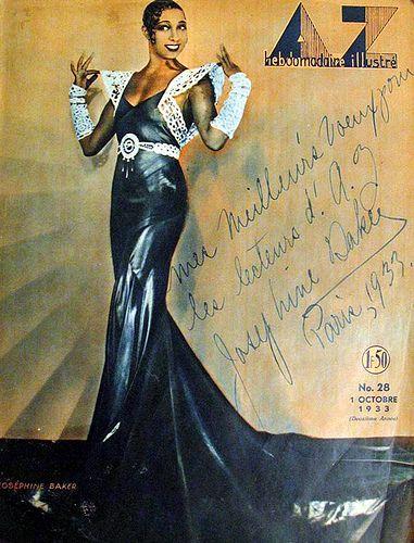 Josephine Baker on the cover of AZ Magazine, October 1933. by Black History Album, via Flickr