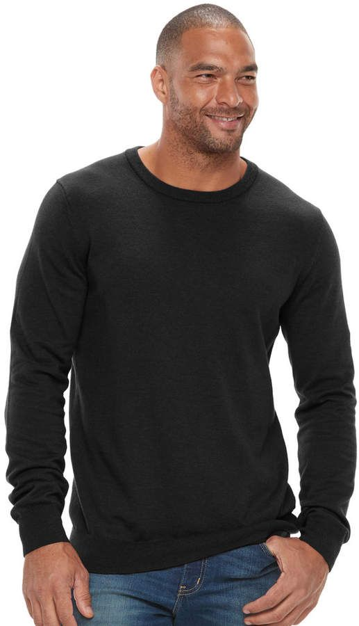adba79a344 Sonoma Goods For Life Big & Tall SONOMA Goods for Life Classic-Fit Coolmax  Crewneck Sweater