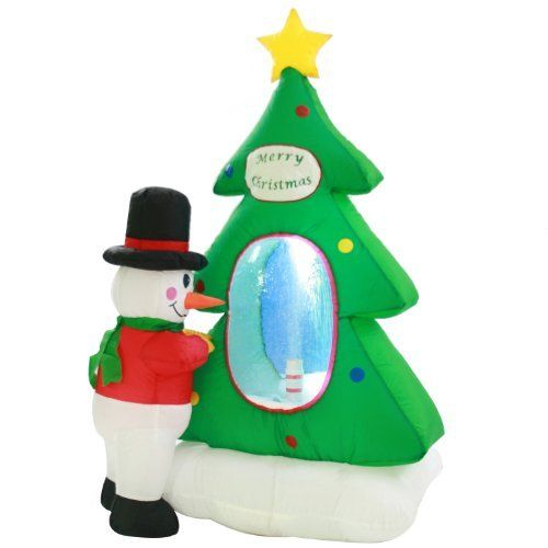 Animated Christmas Tree Snowman