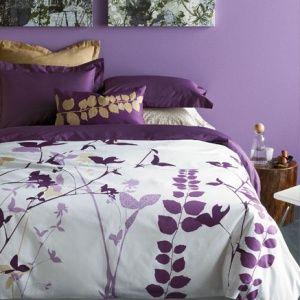 Amanda Purple Duvet Set by Blissliving. The Amanda duvet covers int...