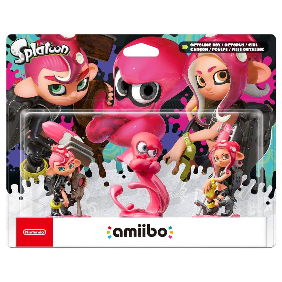 Octoling Triple Pack Octoling Boy Octopus Girl Amiibo