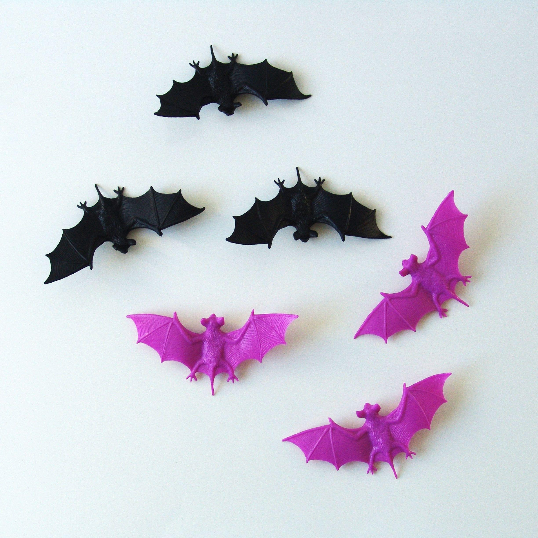 Chauve-souris en plastique cadeau invité halloween - Achat / Vente