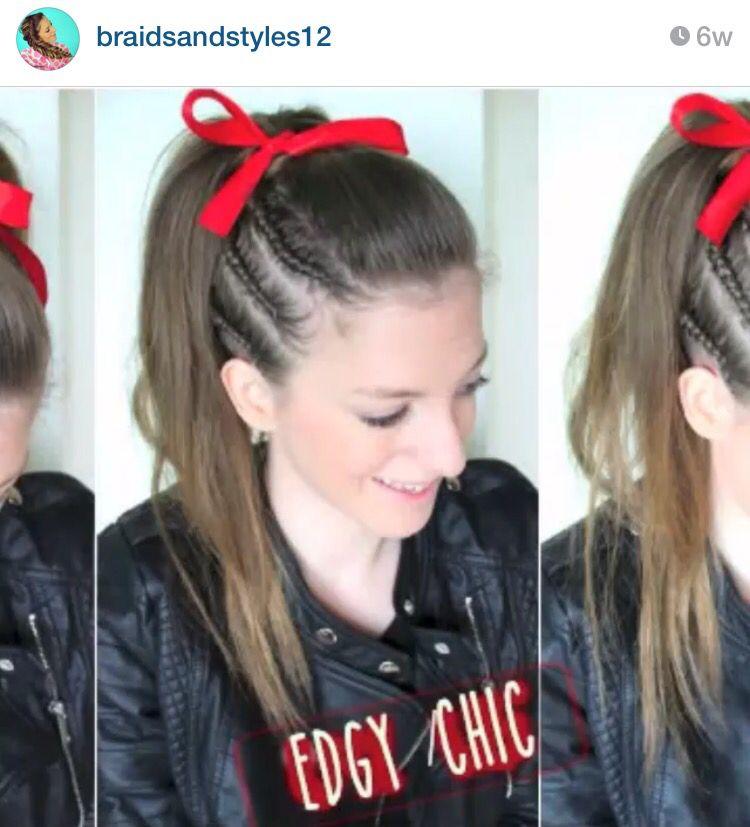 Sorprendentemente fácil peinados de rockera Galería De Consejos De Color De Pelo - Edgy chic hair style. Perfect for cheer   Peinados ...