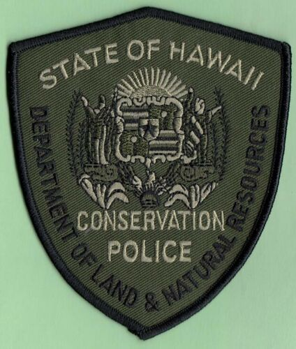 *2 HAWAII STATE GAME WARDEN POLICE PATCH FISH GAME