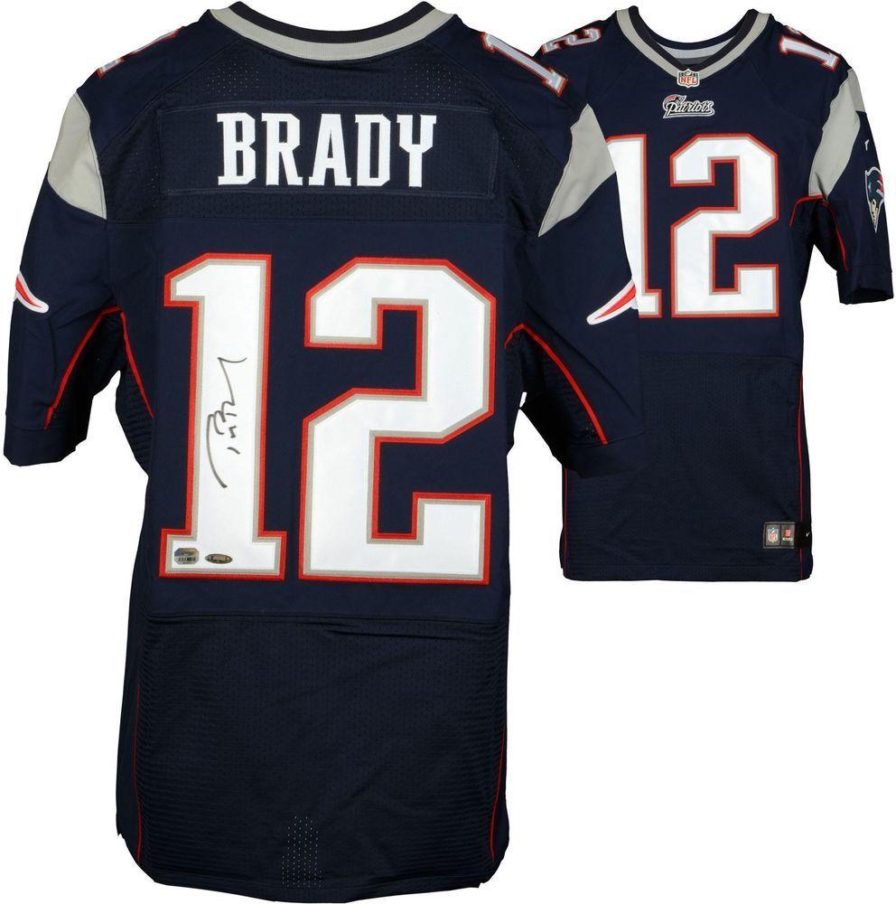 Tom Brady Nfl New England Patriots Signed Navy Nike Elite Jersey Football New England Patriots Nfl New England Patriots Tom Brady Nfl