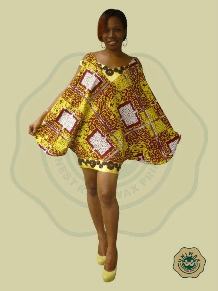 Modele de robe en pagne uniwax pagne africain mod les for Couture de kita pagne