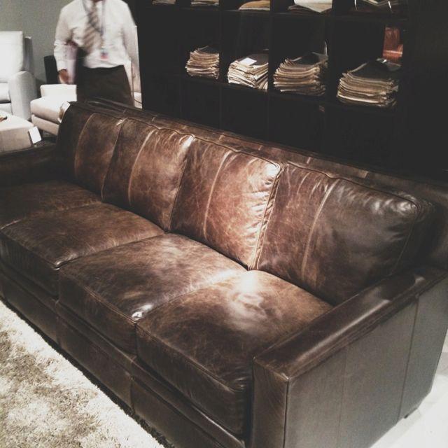Best Sofa Deals: Four Cushion Distressed Leather Sofa