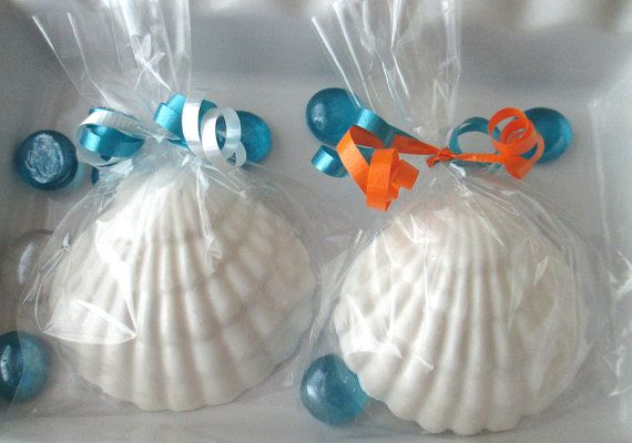 12 Seashell Favors Edible Seashells Beach Wedding Favors Beach