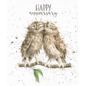 'Anniversary Owls' Anniversary card Greeting Cards