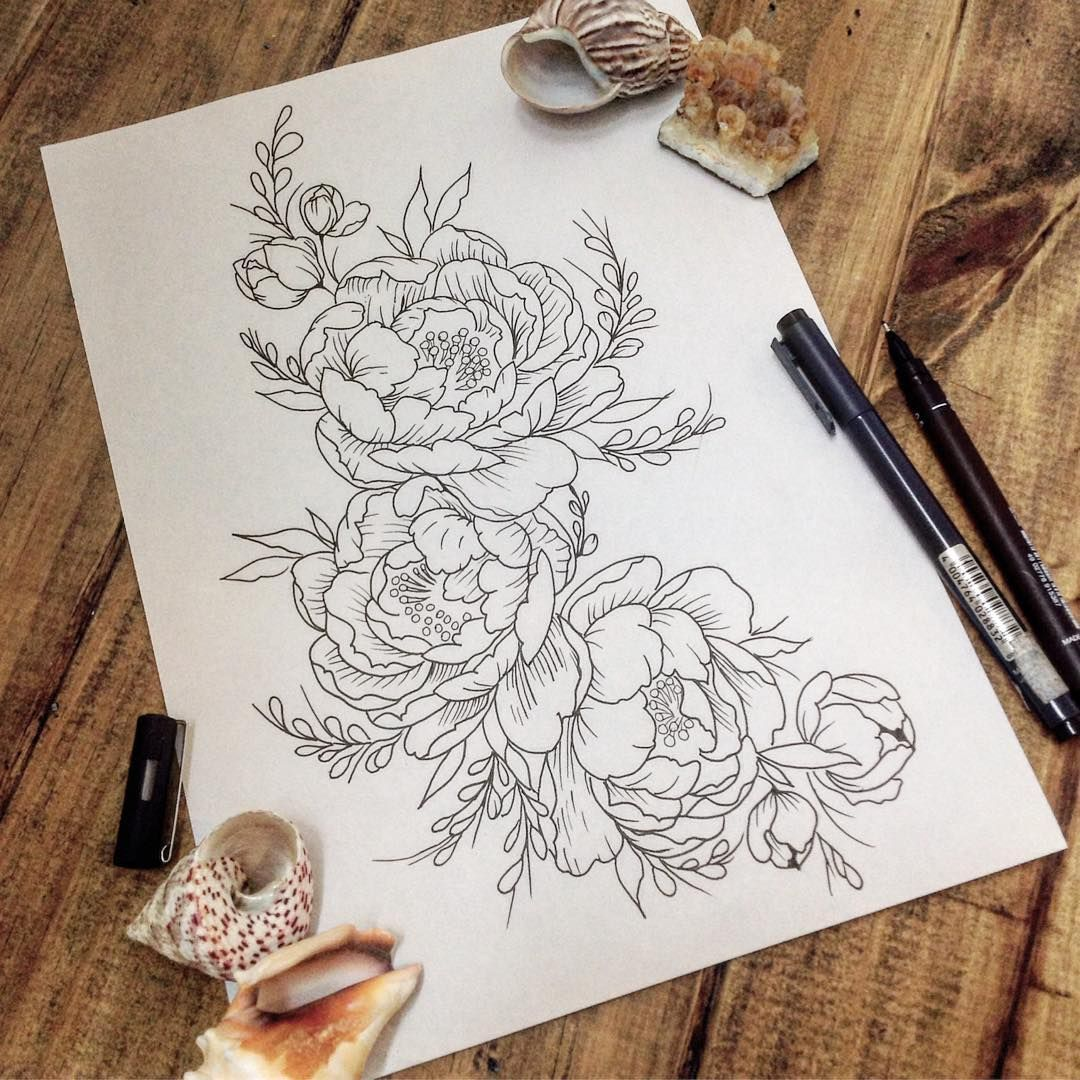 Peonias Por Maxi Fernandez Peonies Flower Tattoos For Women