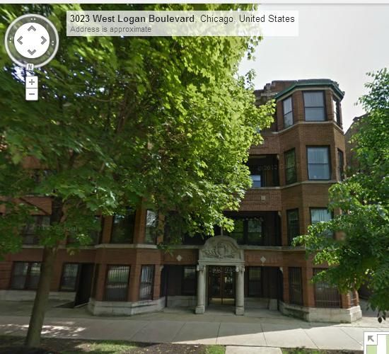 3025 W. Logan Boulevard, aka Versailles. Lived here on 2nd floor with Paul and first Meng and then Shosh from 1991 to 1994.