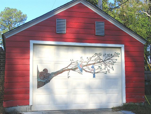 Painted Garage Door Paint A Mural On Your Garage Door Ideas And Directions Garage Door Paint Garage Doors Door Murals