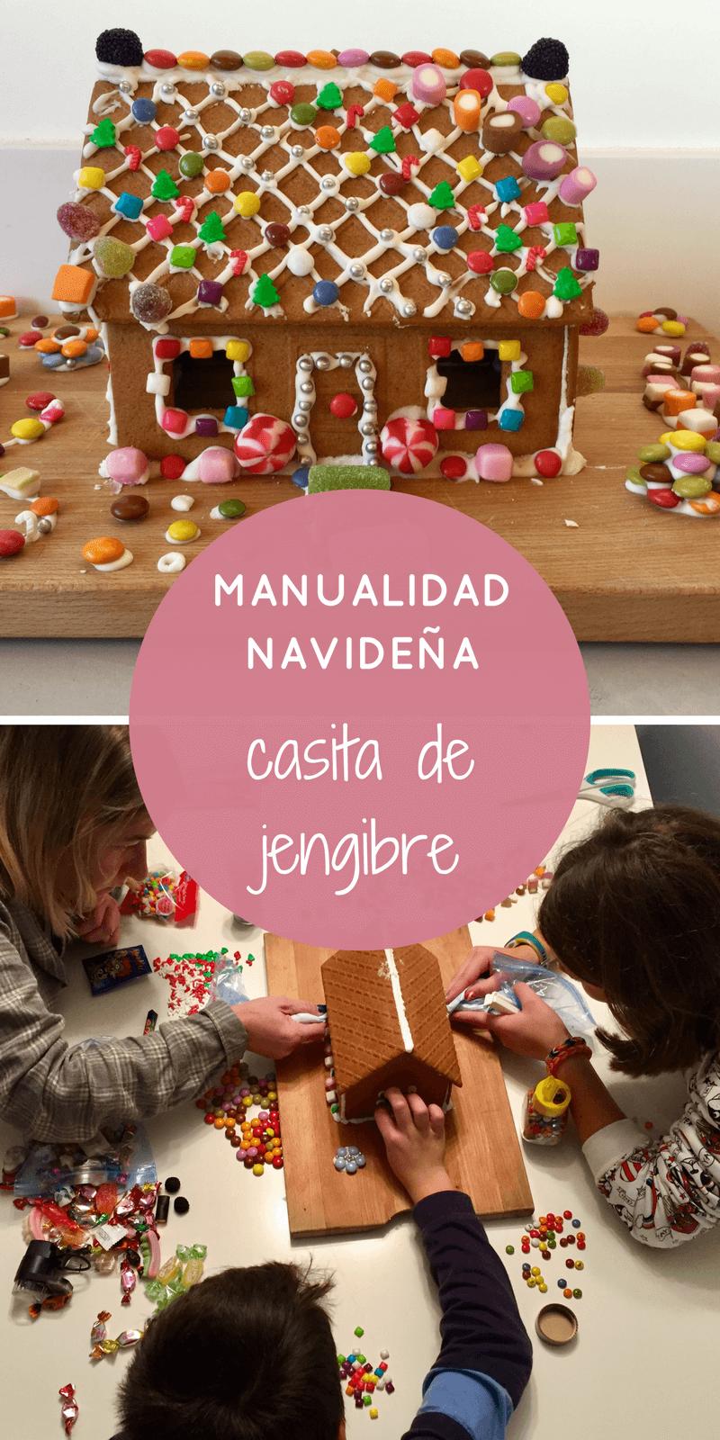 manualidad navideña: casita de jengibre | Jengibre te, Manualidades ...