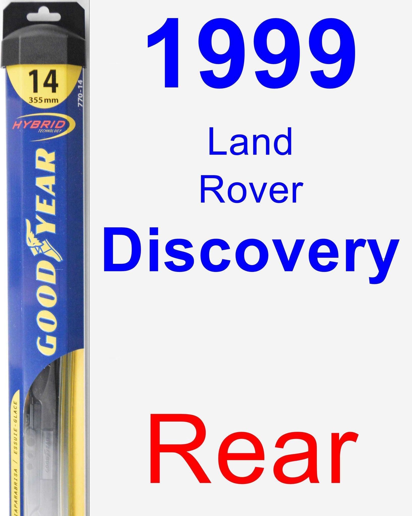 Rear Wiper Blade for 1999 Land Rover Discovery - Hybrid