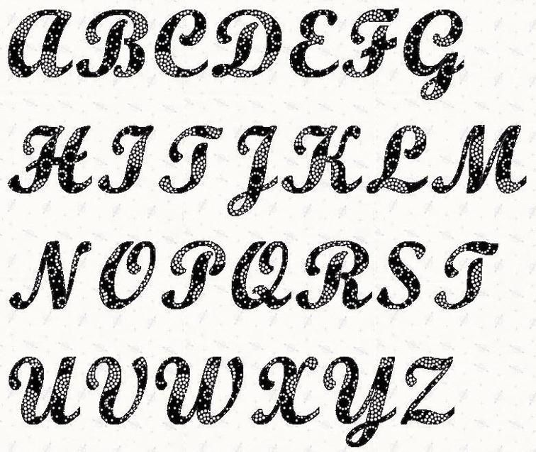 Alphabet Script 6 inch Stencil Craftsy Projects to try