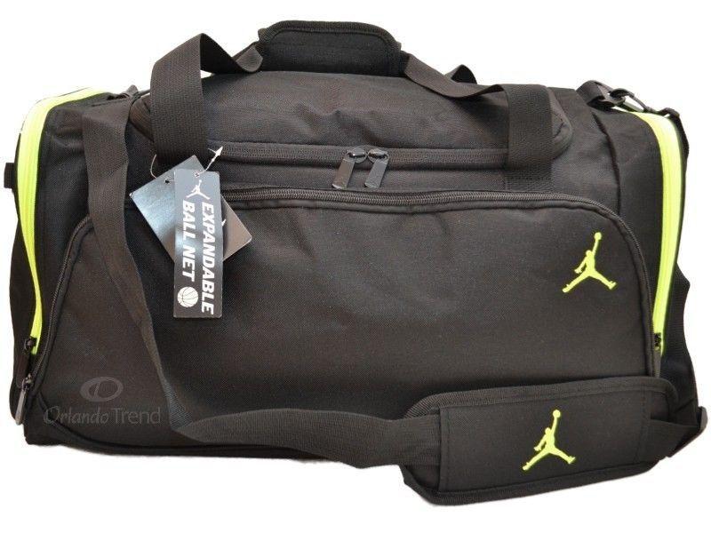 977076097ab789 ... Nike Air Jordan Duffel Gym Bag Basketball Black Green Duffle Large Mens  Boy Girl OrlandoTrend ...