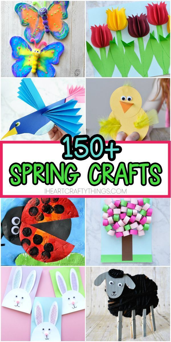 Easy Spring Crafts for Kids -150+ Art and Craft Project Ideas for
