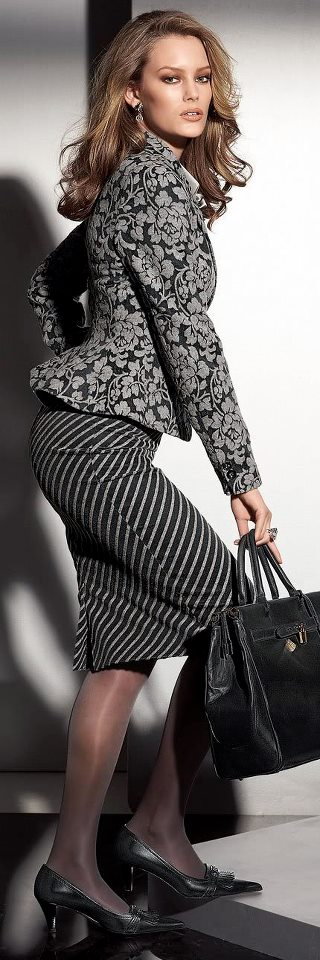 Fashion for the Office - stripes & floral patterns