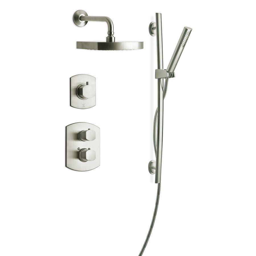 Latoscana Novello Brushed Nickel 3-Handle Watersense Shower Faucet ...