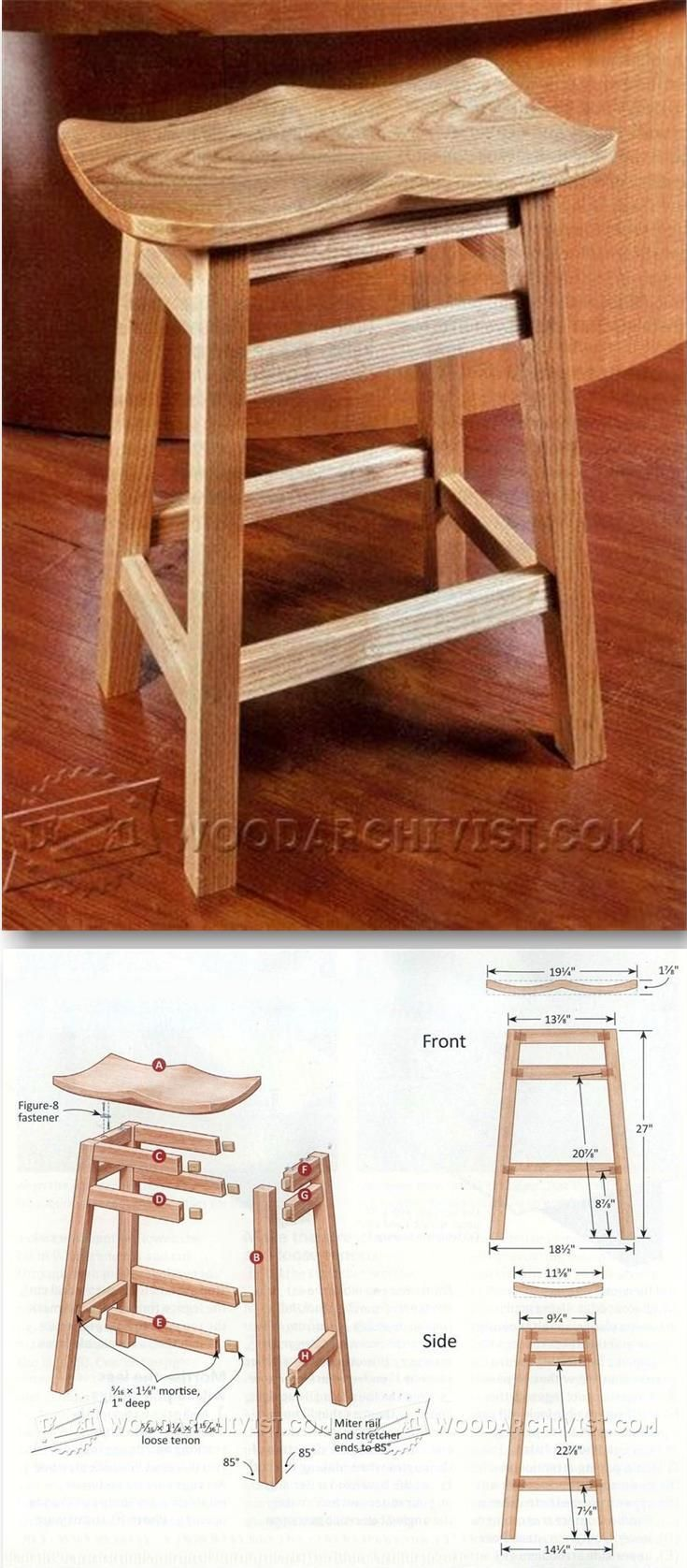 Kitchen stool plans furniture plans and projects woodarchivist