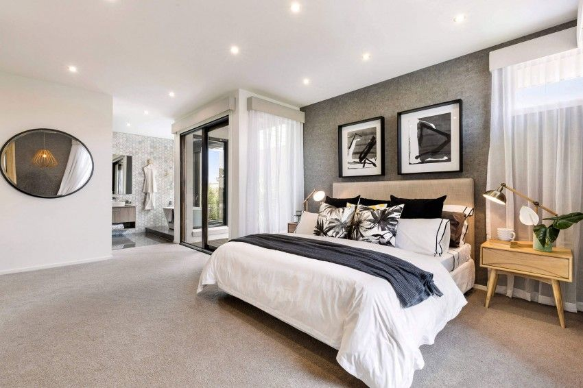 Metricon Designs A Sleek Contemporary Home In Australia Modern Master Bedroom Modern Bedroom Relaxing Master Bedroom