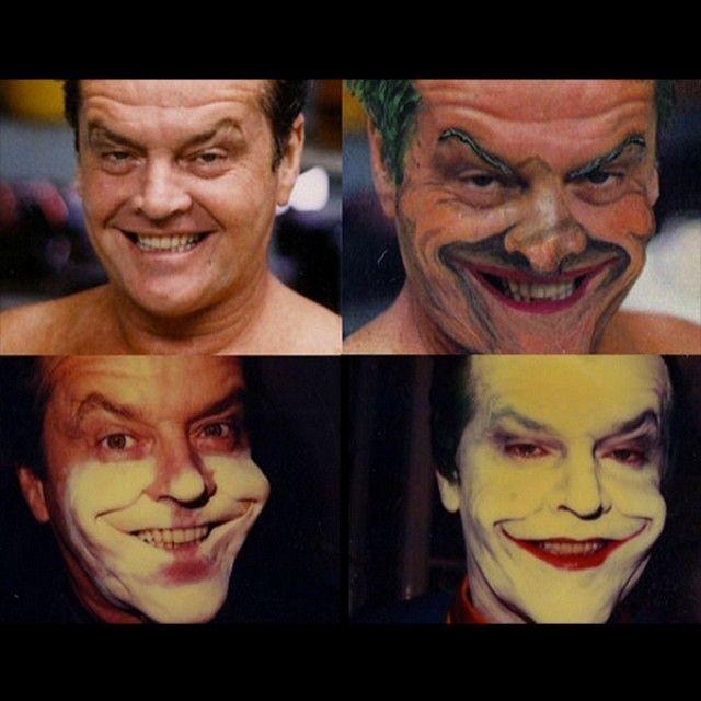 Processo de transformação do #Coringa de #JackNicholson! #Batman #Jokerman #Maquiagem #MakeUp #Bastidores #Movie #Cinema #Curiosidades