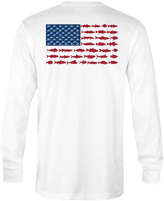 Download Chasing Fin American Fish Flag Performance UPF Fishing ...