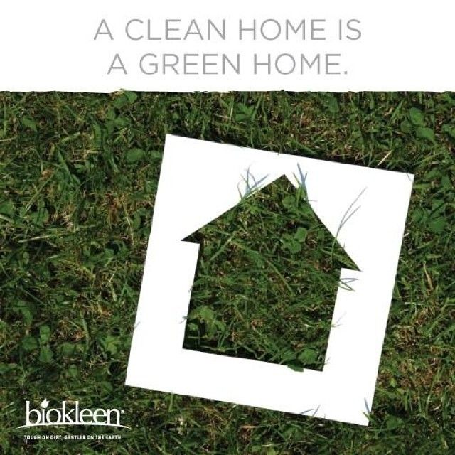 A clean home is a green home. Keep it all natural!