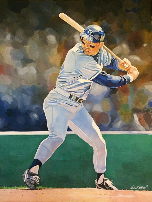 640a88ee70 George Brett Kansas City Royals Watercolor by Michael Pattison. #royals  #worldseries #baseball