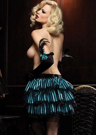 Striped Bustle Skirt