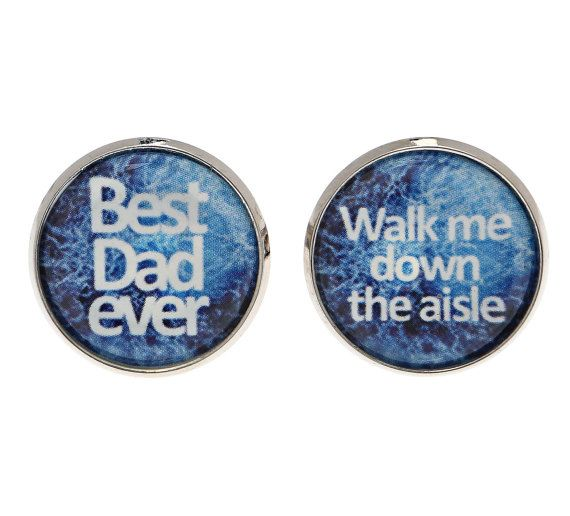 Father of the Bride Cufflinks - Cufflinks For Father of the Bride - Wedding Accessories - Wedding Cufflinks - Cufflinks For Dad - Keepsake $22